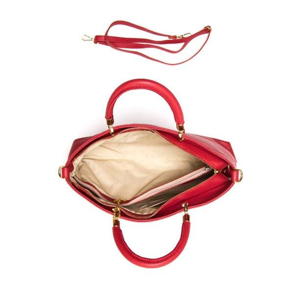 Skórzana torebka Luisa Vannini 1131 Rosso