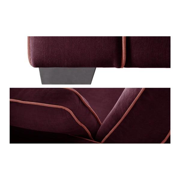 Sofa 2-osobowa Jalouse Maison Serena, bordowa