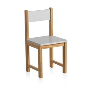 Krzesełko dla dziecka z białym oparciem Geese Petit