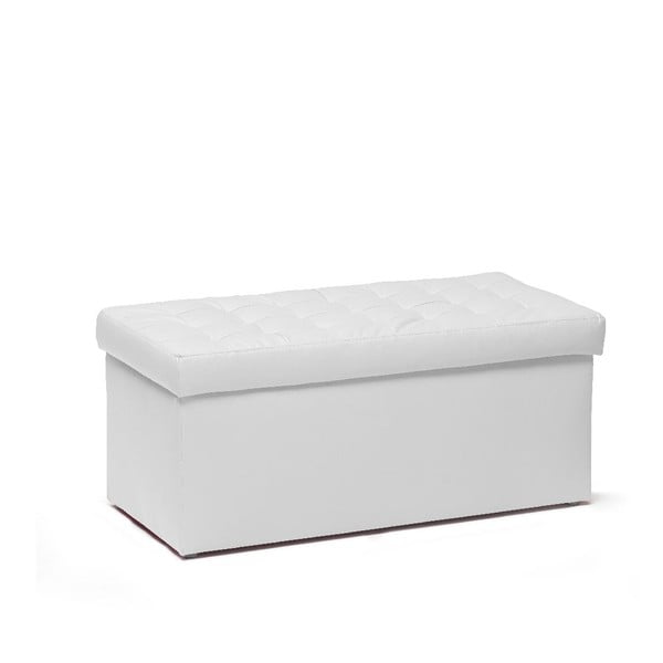 Puf ze schowkiem Silvia 90 cm, biały