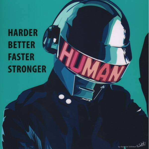 "Obraz ""Daft Punk - Harder better faster stronger"""