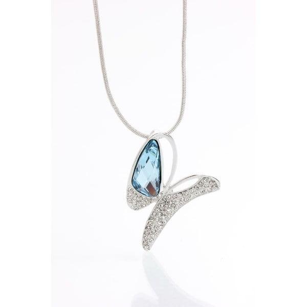 Naszyjnik ze Swarovski Elements, niebieski motyl