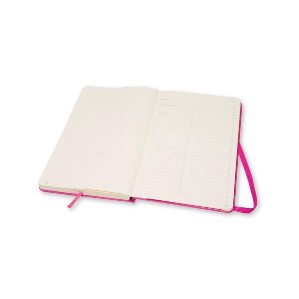 Różowy notatnik Moleskine Folio