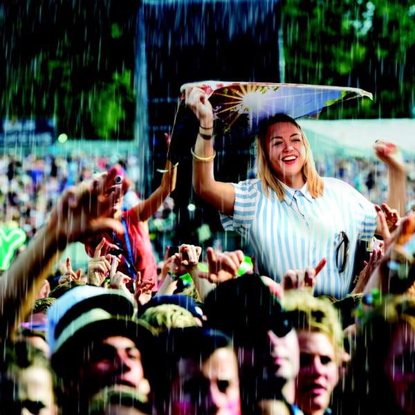 Wodoodporna płachta do siedzenia Come rain or shine Newspaper