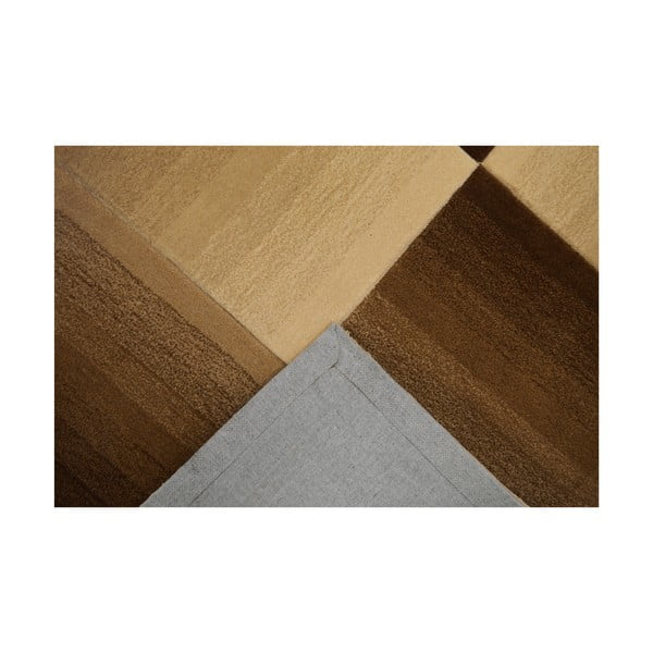Dywan ręcznie tkany Calypso, 200x300 cm, brązowy