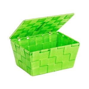 Zelený košík s víkem Wenko Adria