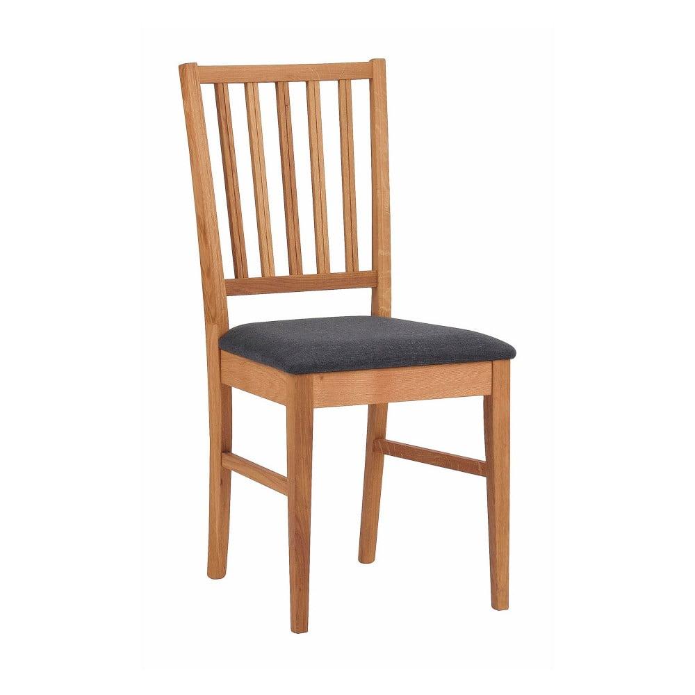 Brązowe dębowe krzesło do jadalni Rowico Filippa