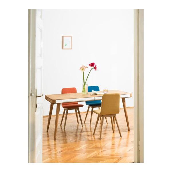 Szare krzesło dębowe Gazzda Ena