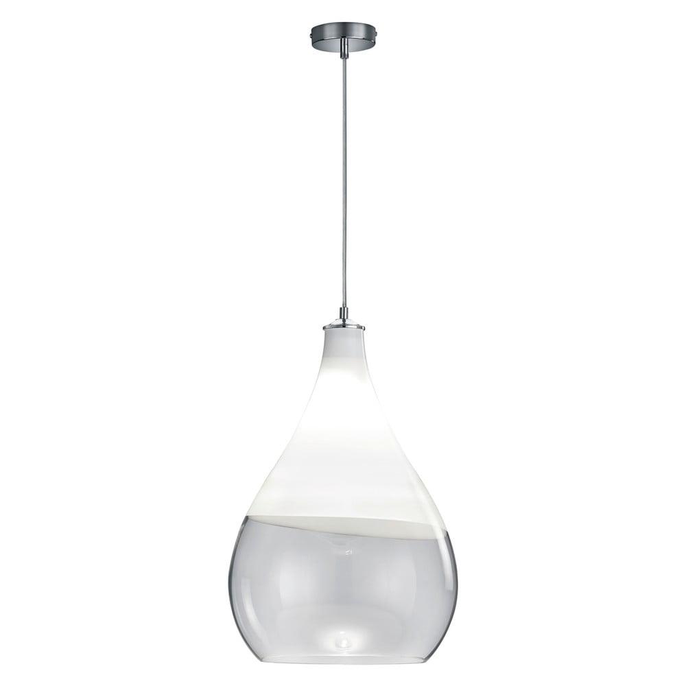 Biała lampa wisząca Trio Kingston, wys. 1,5 m