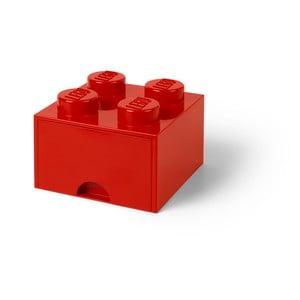 Czerwony pojemnik z szufladą LEGO®