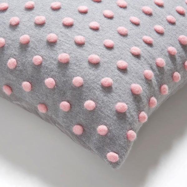 Różowo-szara poduszka La Forma Temara, 45x45 cm