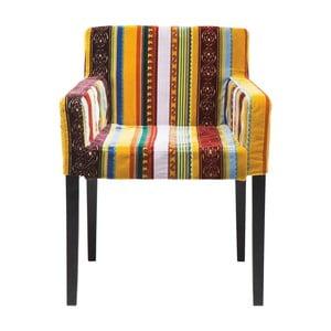 Kolorowe krzesło z podłokietnikami Kare Design Very British