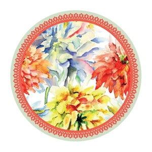 Zestaw 2 mat stołowych Orange Flowers