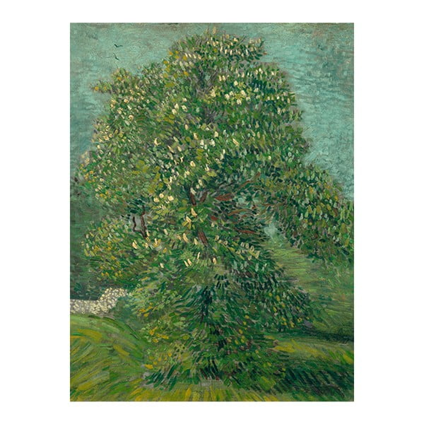 Obraz Vincenta van Gogha - Horse Chestnut Tree in Blossom, 60x80 cm