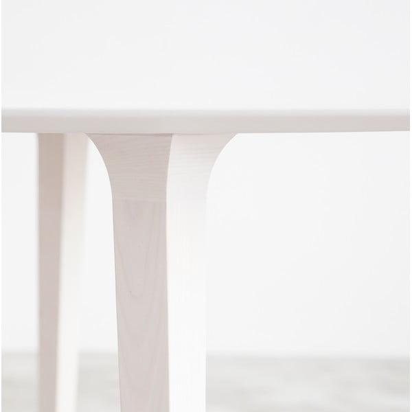 Stół Lau 90 cm, bielony jesion