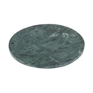Zielona marmurowa deska do krojenia Strömshaga, Ø 30 cm