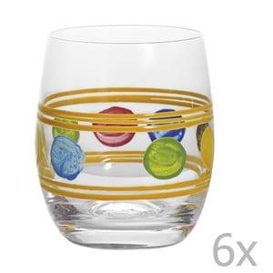 Zestaw 6 szklanek Summer Yellow