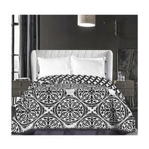 Czarno-biała narzuta dwustronna z mikrowłókna DecoKing Hypnosis Mandala, 220x240cm