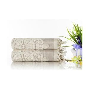 Zestaw 2 ręczników Eftelya Grey, 50x90 cm