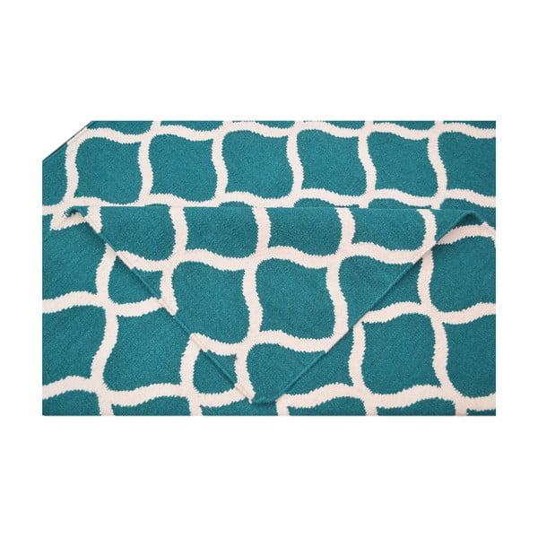 Dywan wełniany Alize, 60x90 cm, niebieski