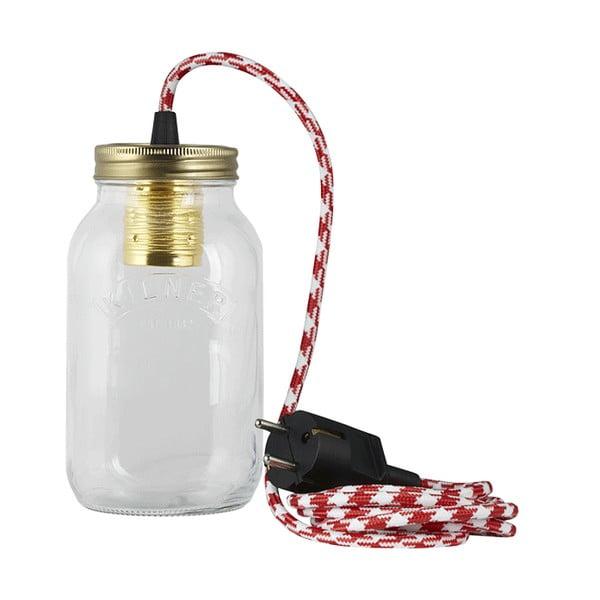Lampa JamJar Lights, czerwono-biały kabel