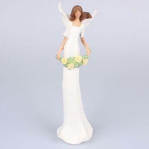 Figurka anioła z kwiatami