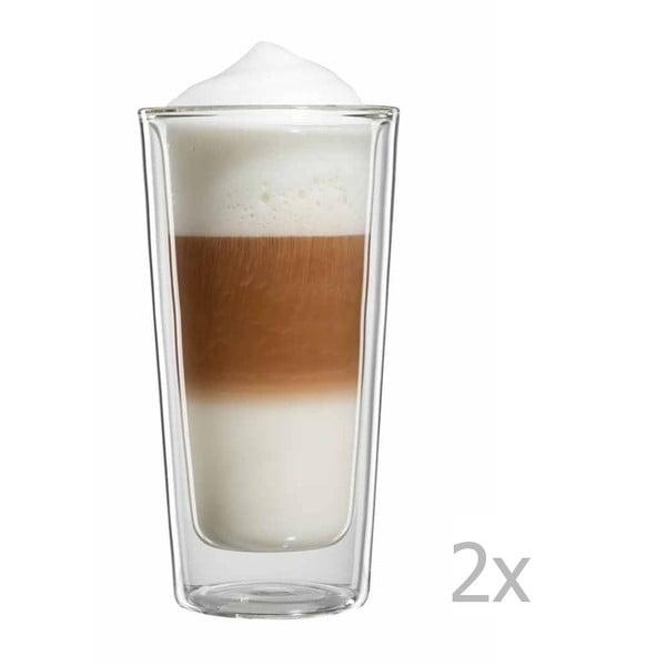 Zestaw 2   dużych szklanek na latte macchiato bloomix Milano
