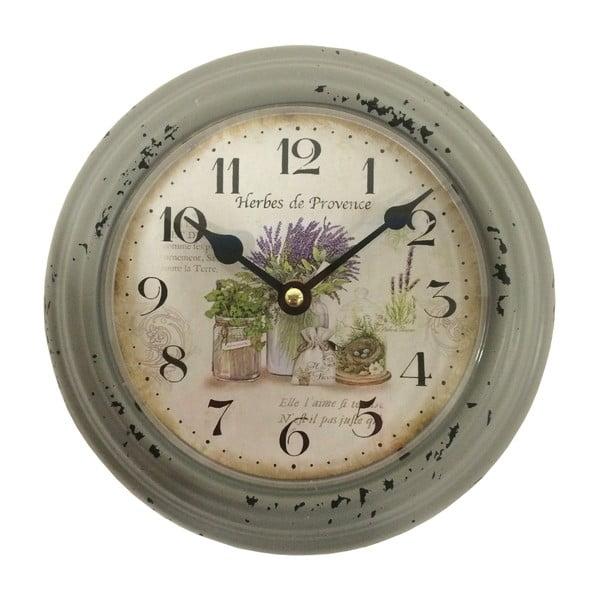 Zielony zegar ścienny Bolzonella Lavanda