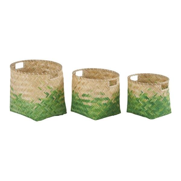Zestaw 3 bambusowych koszyków Athezza Natural
