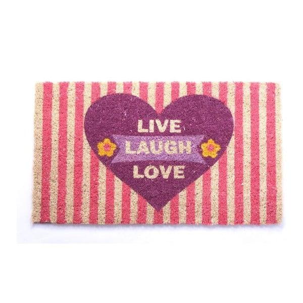 Wycieraczka  Live, Laugh, Love, 40x70 cm