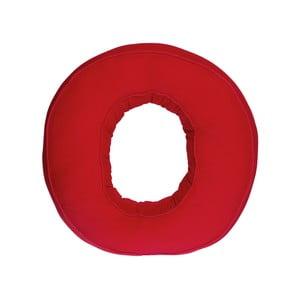 Poduszka w kształcie litery O, czerwona