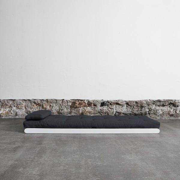 Szezlong Karup Figo White/Gray, 70 cm