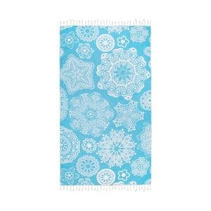 Turkusowy ręcznik hammam Kate Louise Isabella, 165x100 cm