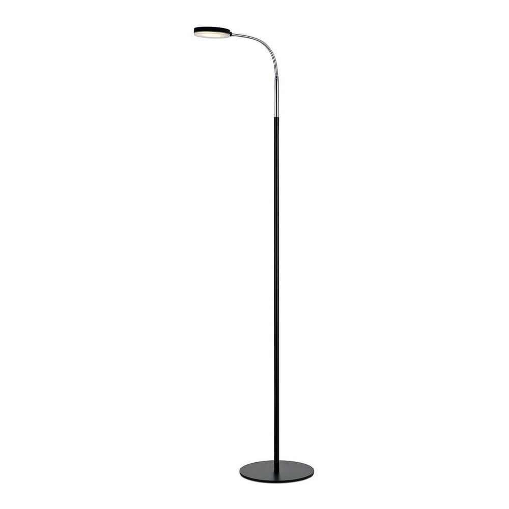 Czarna lampa stojąca LED Markslöjd Flex