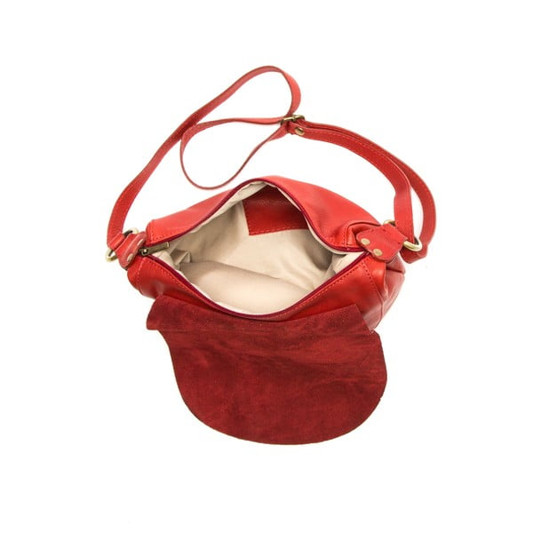 Czerwona skórzana torebka Desideria