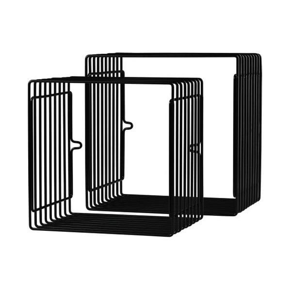 Półka kwadratowa 2 sztuki, czarna
