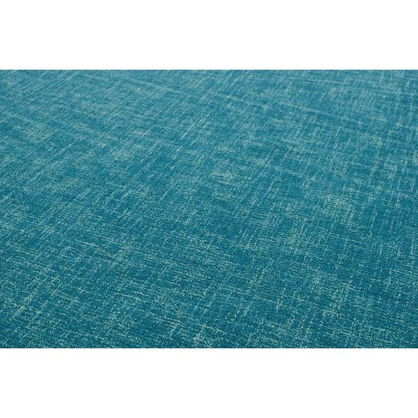 Wełniany dywan Tweed Teal, 170x240 cm