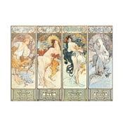 Obraz Alfons Mucha - Les saisons 1897, 42x31 cm
