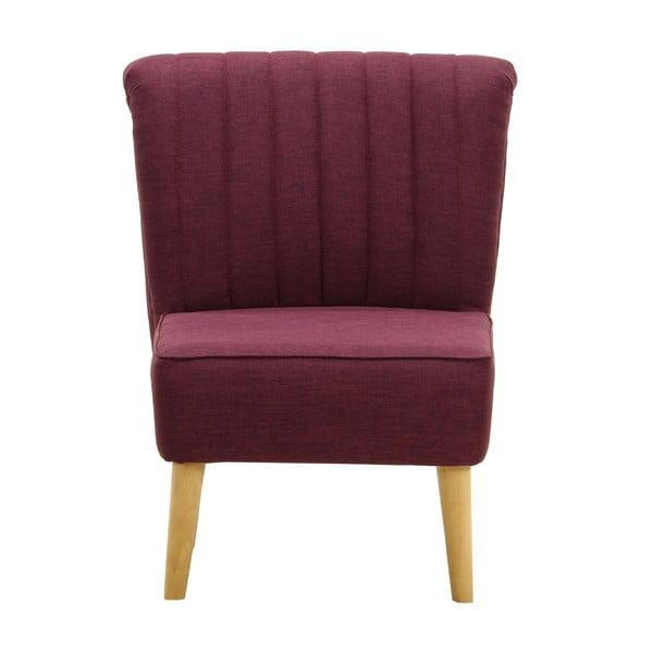 Bordowy   fotel Wintech Remi Savana