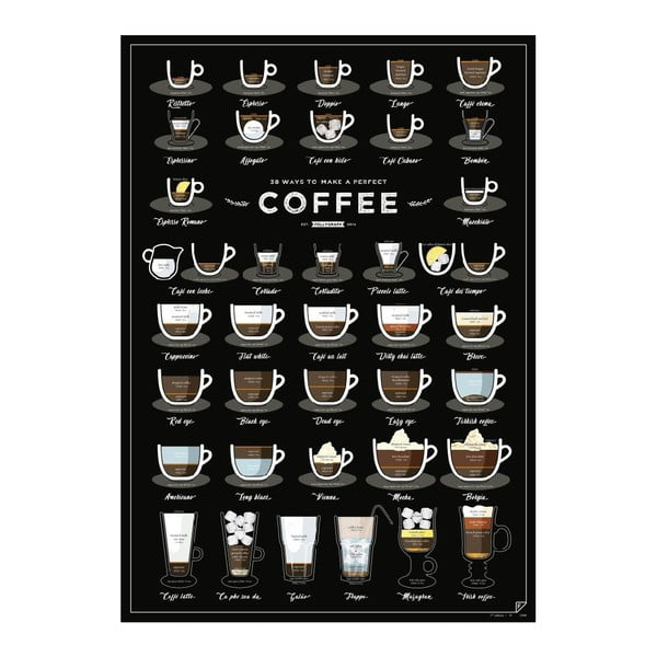 Plakat 38 Ways To Make Perfect Coffee, A2