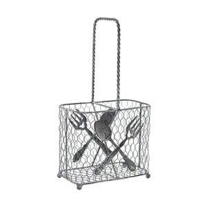 Metalowy koszyk na sztućce Ego Dekor