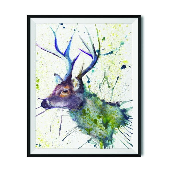 Plakat Wraptious Splatter Stag