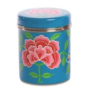 Pojemnik Franjipani Floral Tin, niebieski