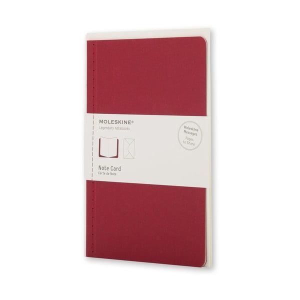 Zestaw do pisania Moleskine Personal Red, karta + koperta