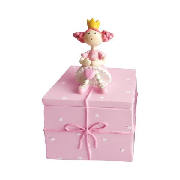 Różowe pudełko ozdobne na drobiazgi Cofanetto