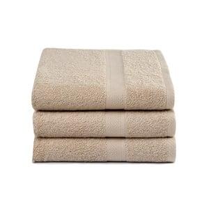 Zestaw 3 beżowych ręczników Ekkelboom, 70x140 cm