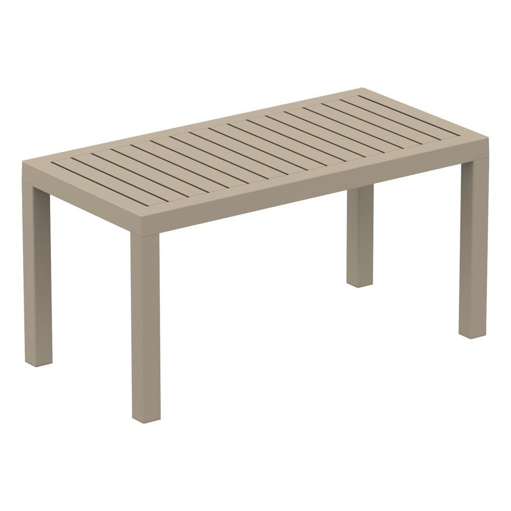 Piaskowobrązowy stolik ogrodowy Resol Click-Clack, 90x45 cm