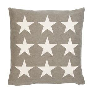 Brązowa poszewka na poduszkę Clayre Stars, 50x50 cm