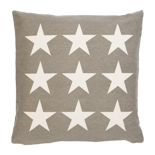 Poszewka na poduszkę Clayre Stars, 50x50 cm, brązowa