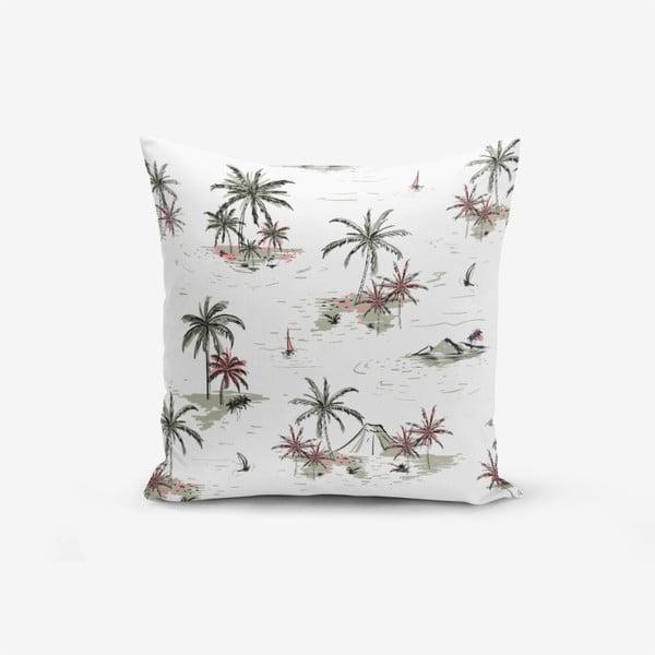 Biała poszewka na poduszkę Minimalist Palm Adası, 45x45cm